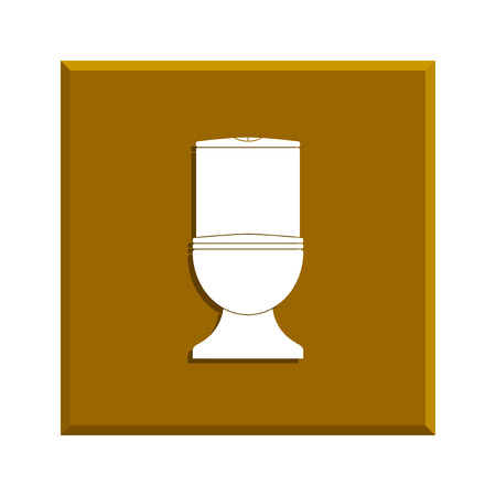 toilet bowl: Toilet icon. Flat design style