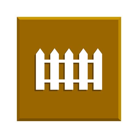 bucolic: fence icon. Flat design style