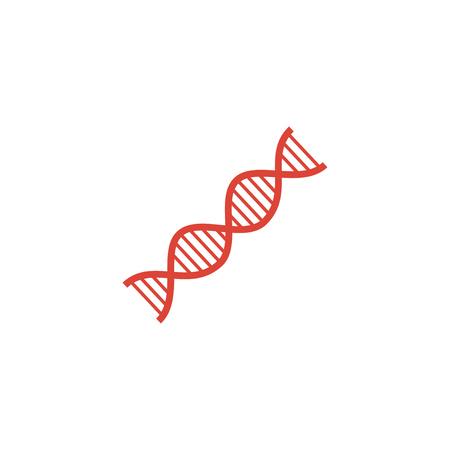 clone: Vector DNA icon. Flat design style