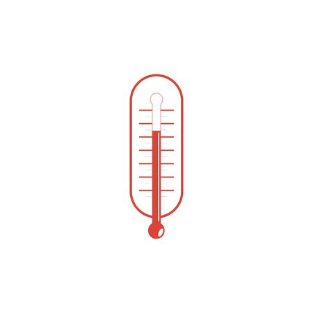 warmth: Flat style with long shadows, thermometer vector icon illustration