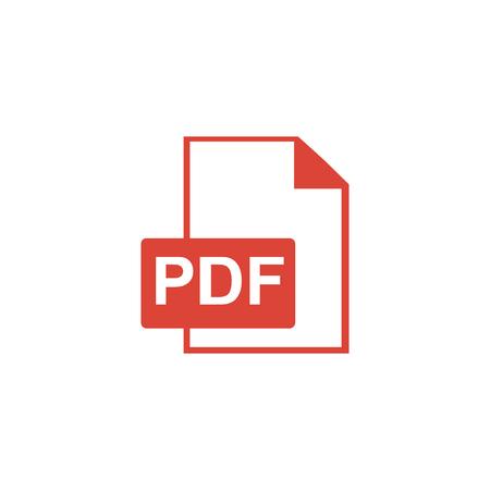 PDF icon. Flat design style