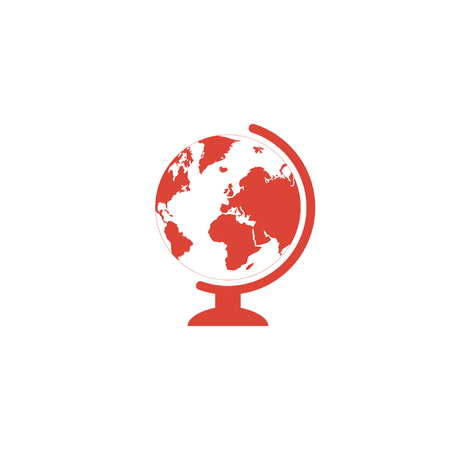 geography: geography school earth globe web icon. vector illustration