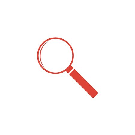 circumference: magnifier - vector icon. Flat design style