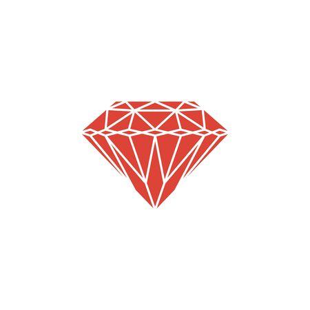 spoil: Diamond icon - Vector illustration