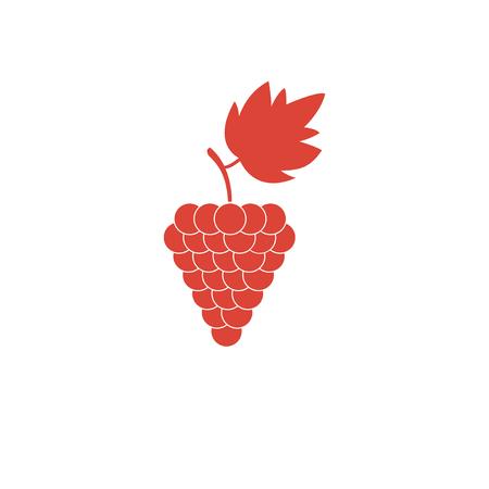 grapes icon, Vector flat Illustration  Illustration