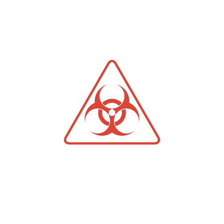 the bacteria signal: Vector biohazard sign or icon, flat Illustration