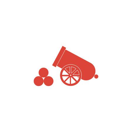 armament: retro cannon Flat design style