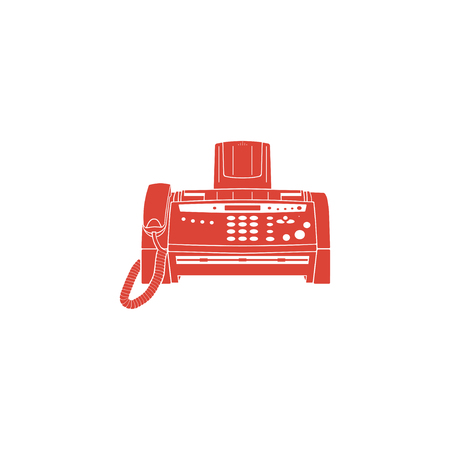 fax machine: Fax machine icon, vector illustration