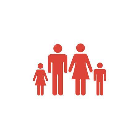 matrimonial: family icon. Flat design style  Illustration