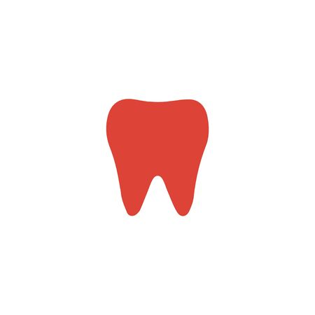 mouth screen: Tooth Icon. Flat design style