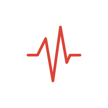 heart beat: Heart beat, Cardiogram, Medical icon - Vector. Flat design style