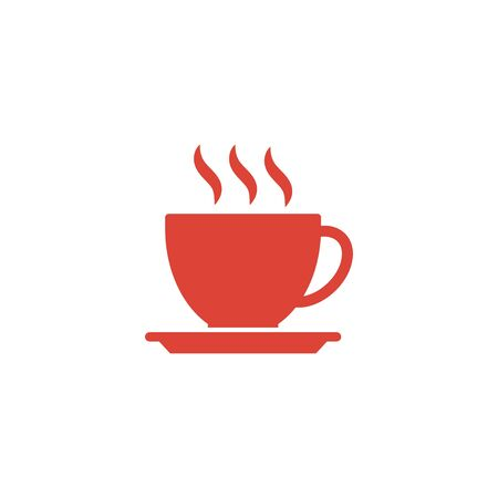 long beans: coffee cup icon. Flat design style