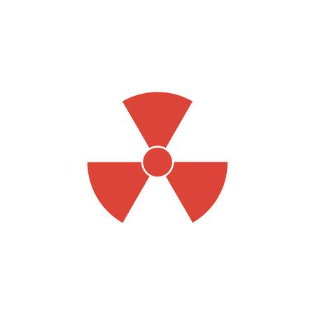 uranium: radiation symbol. Flat design style