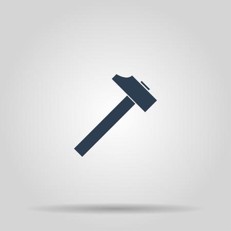 tooling: hammer icon. Flat design style EPS 10
