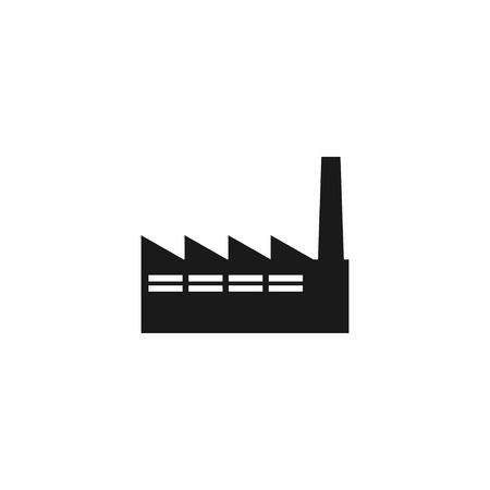 icon of factory. Flat design style eps 10