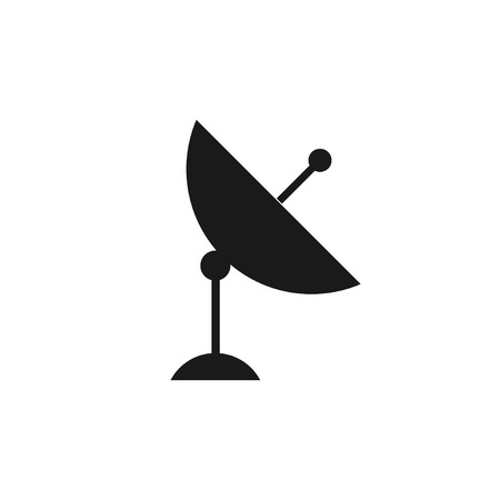 world receiver: Vector satellite dish icon.  Flat design style eps 10 Illustration