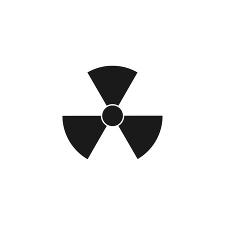 radiation symbol. Flat design style eps 10 Vectores