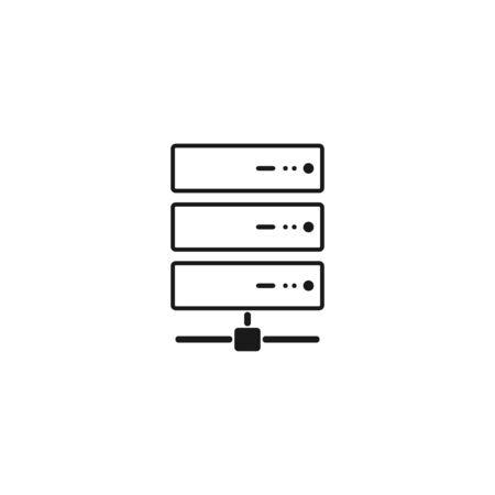 コンピューター サーバーのアイコン、フラットなデザイン。ベクター EPS 10