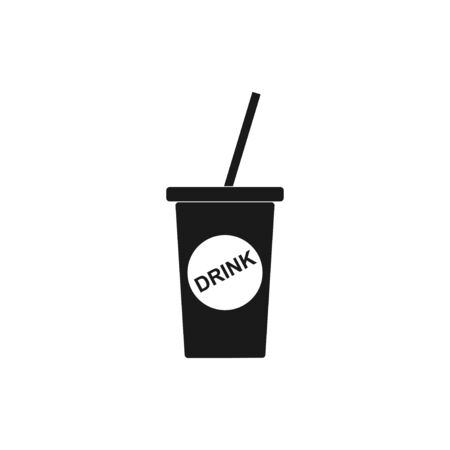 carbonated beverage: paper coffee cup. Flat design style eps 10