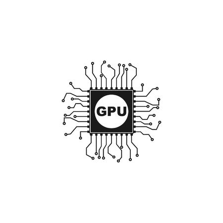 Circuit board  icon. Technology scheme square symbol. 向量圖像