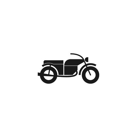 racing sign: motorcycle icon, isolated vector eps 10 illustration