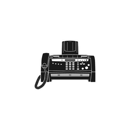 팩스 컴퓨터 아이콘, 벡터 eps 10 일러스트 레이션