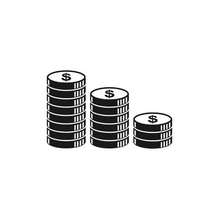 コイン アイコンのスタック。デザイン スタイル eps 10