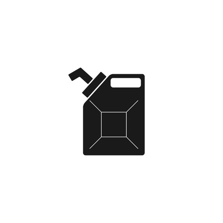 filler: Jerrycan oil vector icon. Flat design style eps 10 Illustration