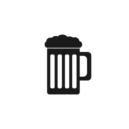 draughts: Beer mug icon. Flat design style eps 10 Illustration