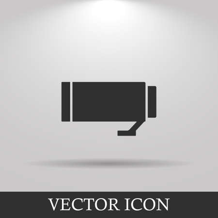 len: Camera Lens Vector. Flat design style eps 10