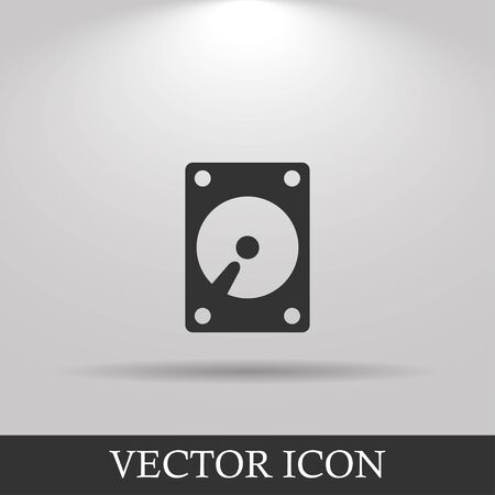 harddrive: hard disk icon. Flat design style eps 10 Illustration