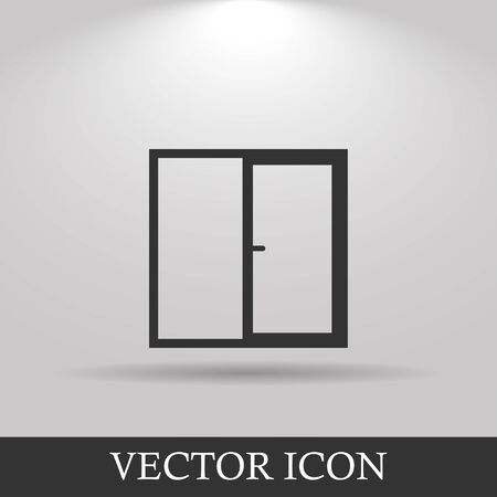 old frame: Flat  Window icon, vector illustration  Flat design style eps 10