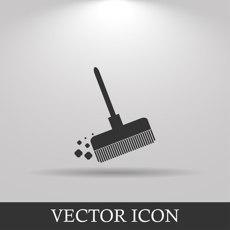besom: Broom vector icon Flat design style eps 10 Illustration