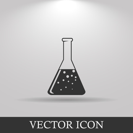 eps vector icon: laboratory glass  icon, flat vector illustration. EPS