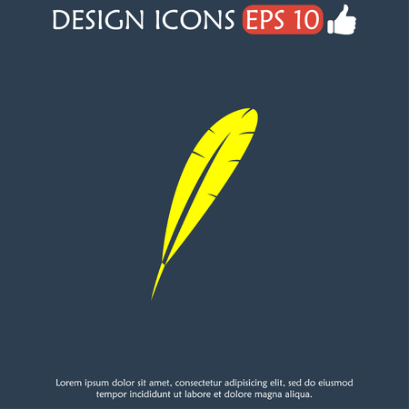 Feather Icon. Flat design style EPS 10