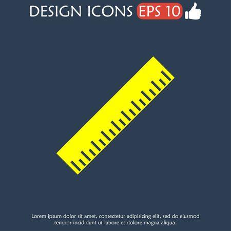 ruler: Ruler Icon. Flat design style. EPS 10 Illustration