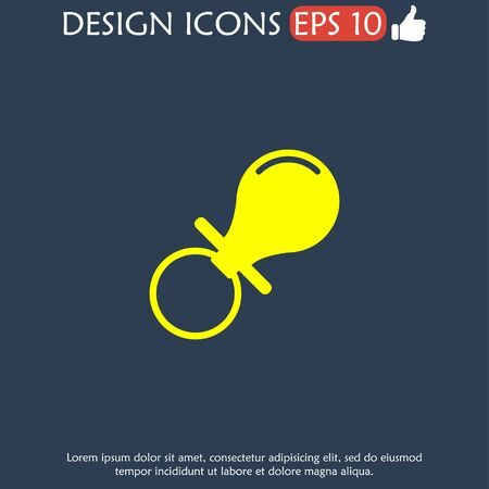 nipple young: Baby nipple icon. Flat design style. EPS