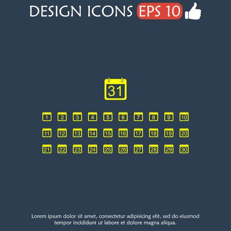 upcoming: Flat vector calendar icon. Design style EPS Illustration