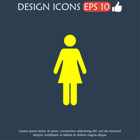 gents: Woman - vector icon. Flat design style EPS