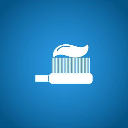dentures: Toothbrush icon. Flat design style EPS 10