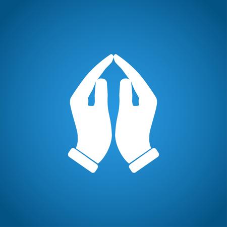 praise: Praying hands icon, vector illustration. Flat design style Illustration