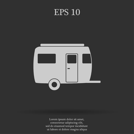 coupling: camping trailer vector icon Design style eps 10
