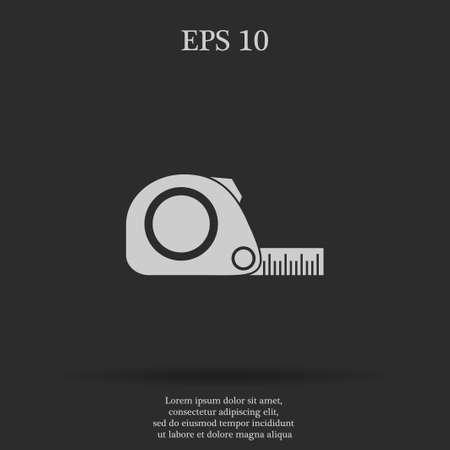 simbol: Tape measure icon. Roulette construction  simbol. Flat Illustration