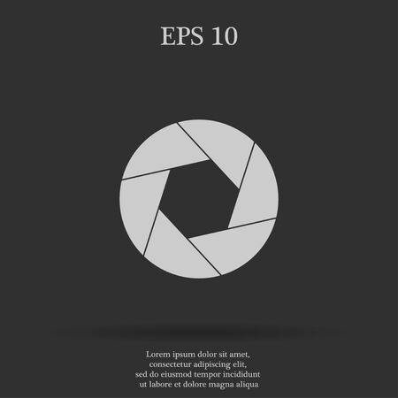 aperture: aperture icon. Flat design style eps 10