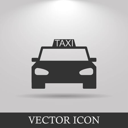 taxi: Taxi icon. Flat design style eps 10