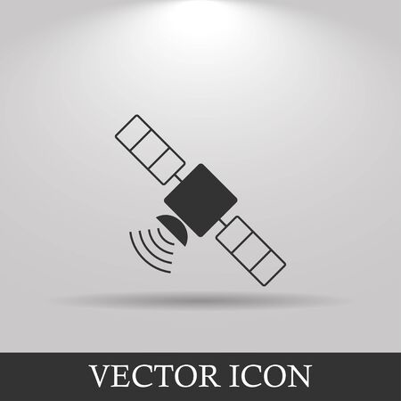 telephony: satellite icon. Flat design style. Vector icon