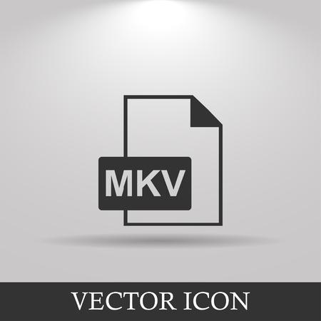 mov: mkv file icon. Flat design style eps 10 Illustration