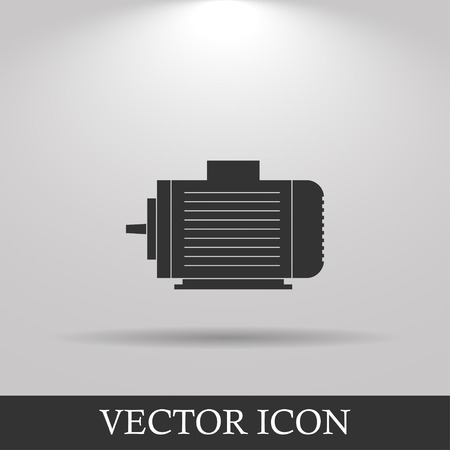 motor: Electric motor icon, Vector flat Illustration EPS Illustration