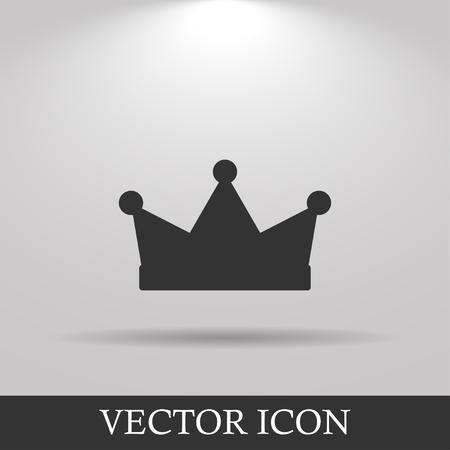 クラウン アイコン、ベクトル イラスト。フラットなデザイン スタイル  イラスト・ベクター素材