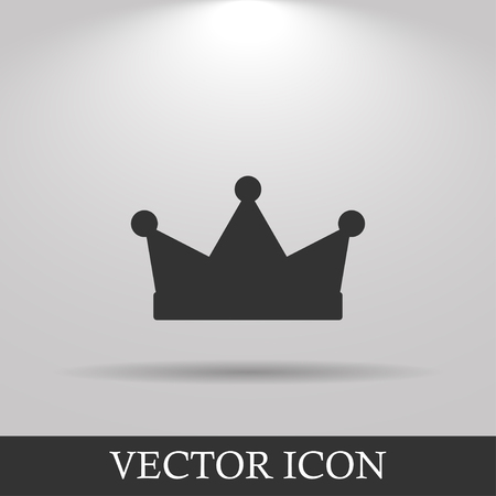 crown: Crown icon, vector illustration. Flat design style